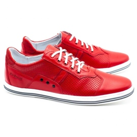 Polbut Casual men's shoes 1801L red 2