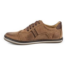 Polbut Casual men's shoes 1801P brown 1