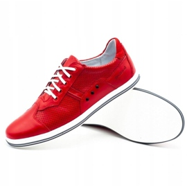 Polbut Casual men's shoes 1801L red 3