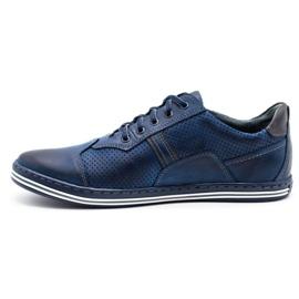 Polbut Men's casual shoes 1801P navy blue 2