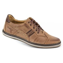 Polbut Casual men's shoes 1801P brown 2