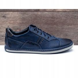 Polbut Men's casual shoes 1801P navy blue 1