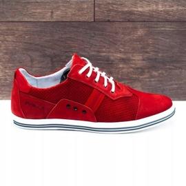 Polbut Casual men's shoes 1801P red nubuck 1