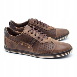 Polbut Casual men's shoes 1801P brown 3