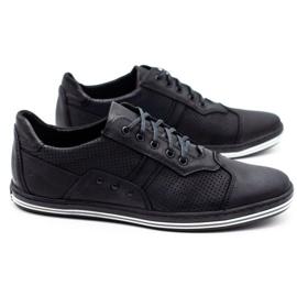Polbut 1801P black casual men's shoes 4