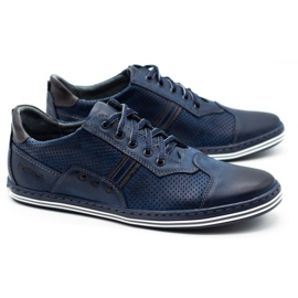 Polbut Men's casual shoes 1801P navy blue 3