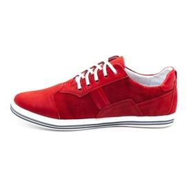 Polbut Casual men's shoes 1801P red nubuck 2