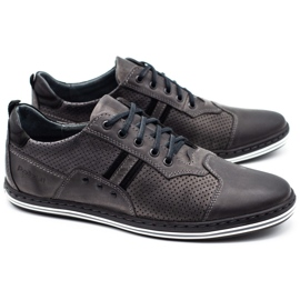 Polbut Men's casual shoes 1801P gray grey 1