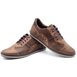 Polbut Casual men's shoes 1801P brown 7