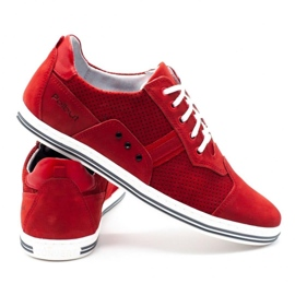 Polbut Casual men's shoes 1801P red nubuck 5