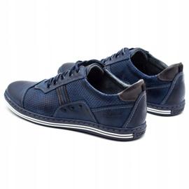 Polbut Men's casual shoes 1801P navy blue 7
