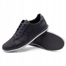 Polbut 1801P black casual men's shoes 1