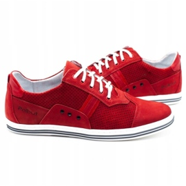 Polbut Casual men's shoes 1801P red nubuck 6