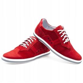 Polbut Casual men's shoes 1801P red nubuck 7