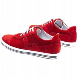 Polbut Casual men's shoes 1801P red nubuck 8