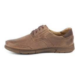 Polbut Casual men's shoes J55 brown 1