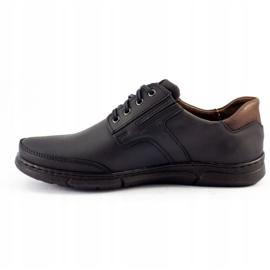 Polbut Black casual men's shoes J55 2