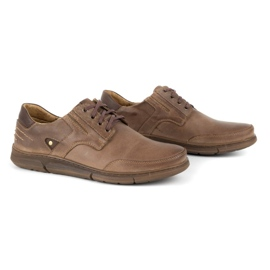 Polbut Casual men's shoes J55 brown 2