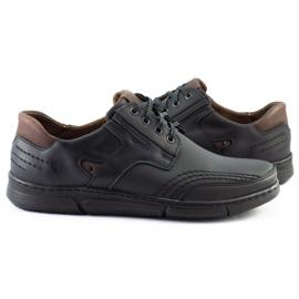 Polbut Black casual men's shoes J55 1