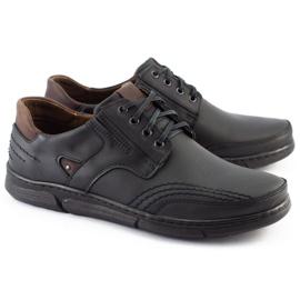 Polbut Black casual men's shoes J55 3