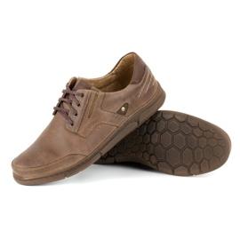 Polbut Casual men's shoes J55 brown 3