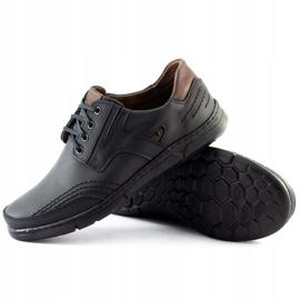 Polbut Black casual men's shoes J55 4