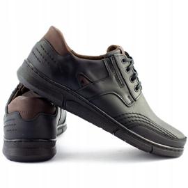 Polbut Black casual men's shoes J55 5