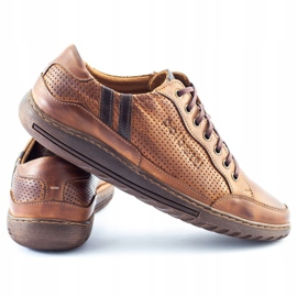 Polbut JOK31 brown casual men's shoes 1