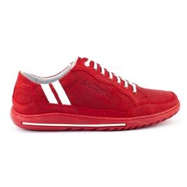 Polbut Casual men's shoes JOK31 red 1