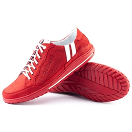 Polbut Casual men's shoes JOK31 red 2