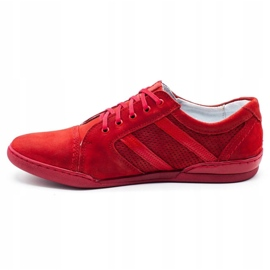 Polbut Casual men's shoes R3 Perforation red 6