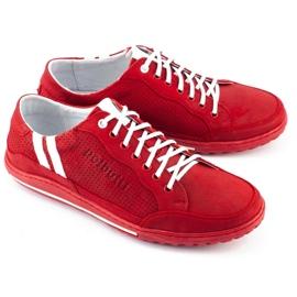 Polbut Casual men's shoes JOK31 red 3