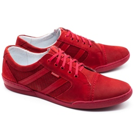 Polbut Casual men's shoes R3 Perforation red 7