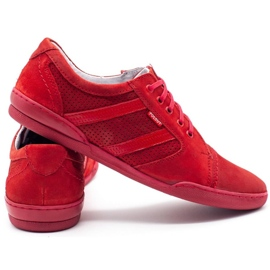 Polbut Casual men's shoes R3 Perforation red 8