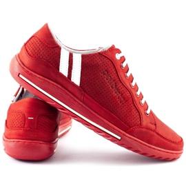 Polbut Casual men's shoes JOK31 red 5