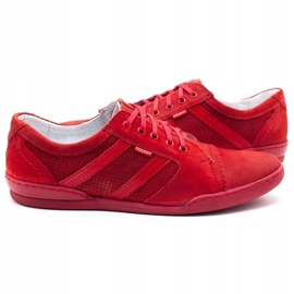 Polbut Casual men's shoes R3 Perforation red 9