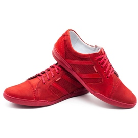 Polbut Casual men's shoes R3 Perforation red 10