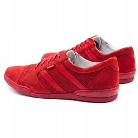 Polbut Casual men's shoes R3 Perforation red 11