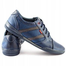 Polbut Men's casual shoes R3 Perforation Navy Blue 5