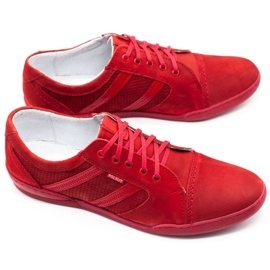 Polbut Casual men's shoes R3 Perforation red 12