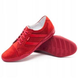 Polbut Casual men's shoes R3 Perforation red 1