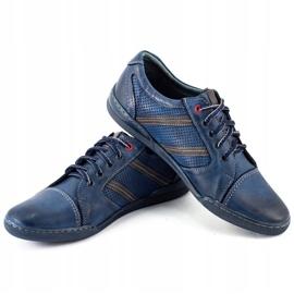 Polbut Men's casual shoes R3 Perforation Navy Blue 7