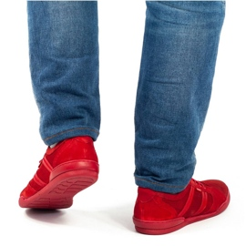 Polbut Casual men's shoes R3 Perforation red 2