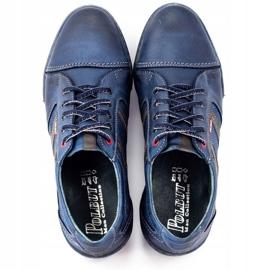 Polbut Men's casual shoes R3 Perforation Navy Blue 8