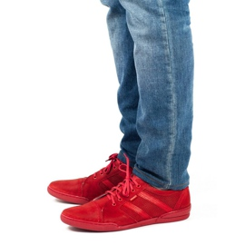 Polbut Casual men's shoes R3 Perforation red 3