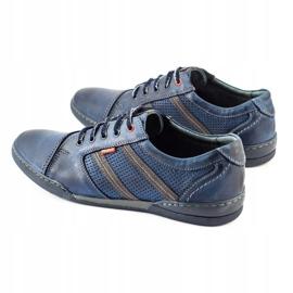 Polbut Men's casual shoes R3 Perforation Navy Blue 9