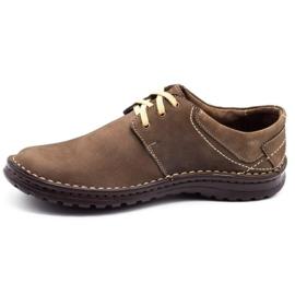Joker Men's leather shoes 229 olive multicolored khaki 1