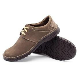 Joker Men's leather shoes 229 olive multicolored khaki 3