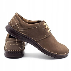 Joker Men's leather shoes 229 olive multicolored khaki 4