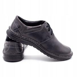 Joker Men's leather shoes 229 gray grey 5